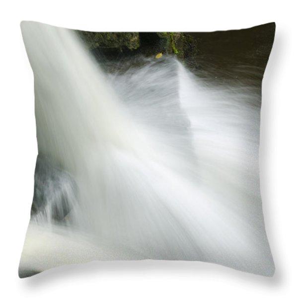 The Second Lahuarpia Falls, Lahuarpia Throw Pillow by Nigel Hicks