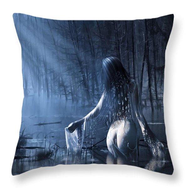 The Siren Throw Pillow by Svetlana Sewell