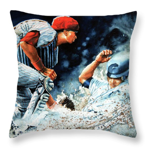 The Slide Throw Pillow by Hanne Lore Koehler