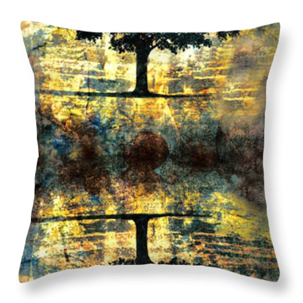 The Small Dreams of Trees Throw Pillow by Tara Turner