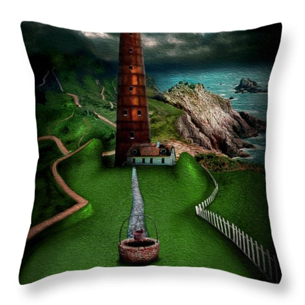 The sound of silence Throw Pillow by Alessandro Della Pietra