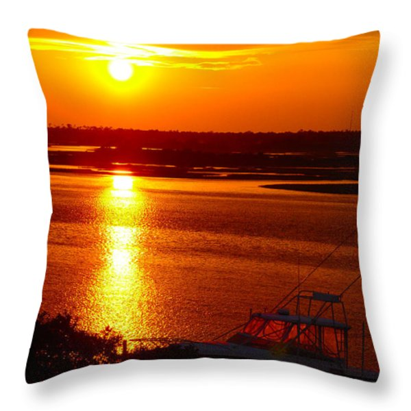 The Sound of Sunset Throw Pillow by Laura Brightwood