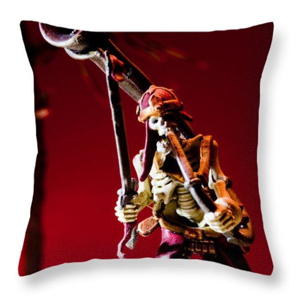 The Sound Of The Dead Throw Pillow by Marc Garrido