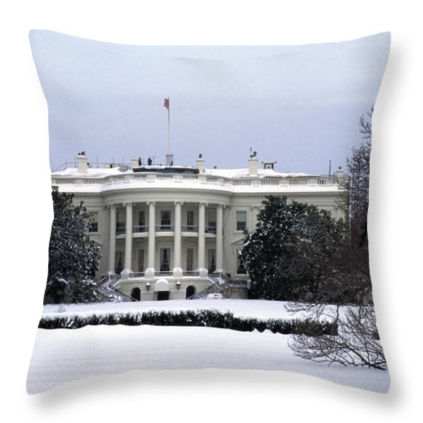 The South View Of The White House Throw Pillow by Stacy Gold