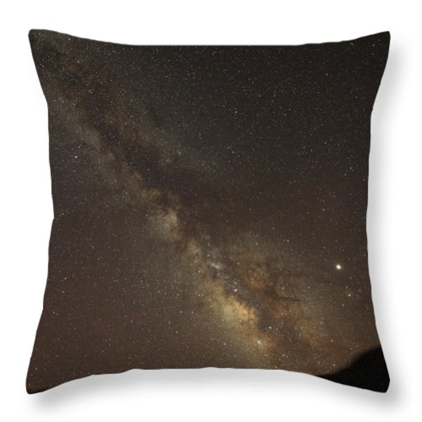The Southern Milky Way Above Meteor Throw Pillow by Stephen Alvarez