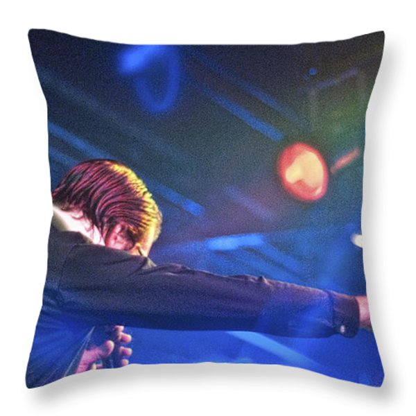 The Spazmatics Throw Pillow by Sheri Bartoszek