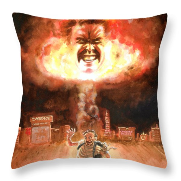 The Stand Throw Pillow by Ken Meyer jr