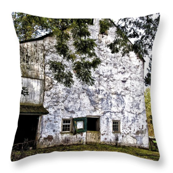 The Stone Barn Throw Pillow by Bill Cannon