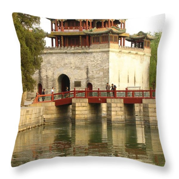 The Summer Palace Throw Pillow by Richard Nowitz