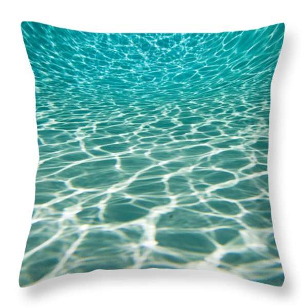 The Sun Is Reflected In Patterns Throw Pillow by Tim Laman