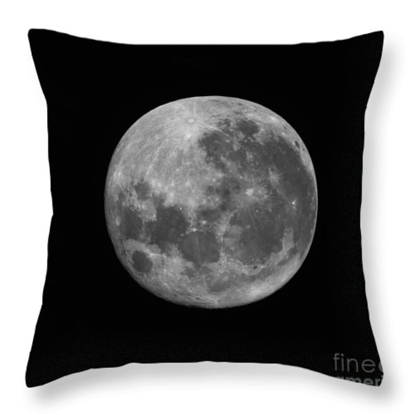 The Supermoon Of March 19, 2011 Throw Pillow by Phillip Jones