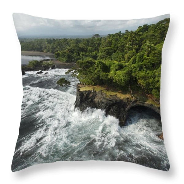 The Surf Pounds Point Dolores Throw Pillow by Tim Laman