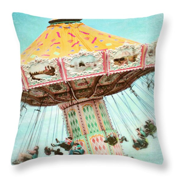 The Swings 2 Throw Pillow by Sylvia Cook