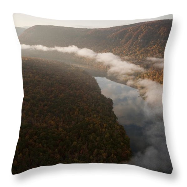 The Tennessee River Cuts Through Signal Throw Pillow by Stephen Alvarez
