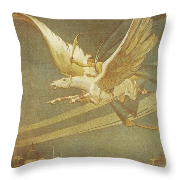 The Thief Of Bagdad Throw Pillow by Nomad Art And  Design