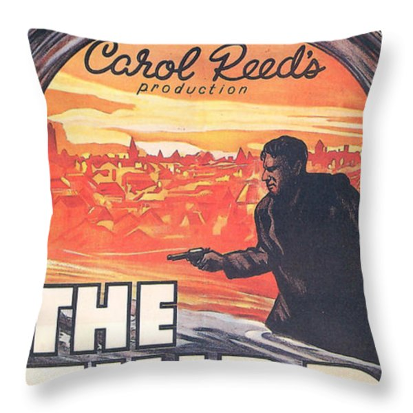 The Third Man  Throw Pillow by Nomad Art And  Design