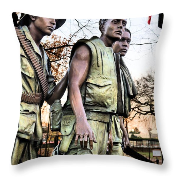 The Three Throw Pillow by JC Findley