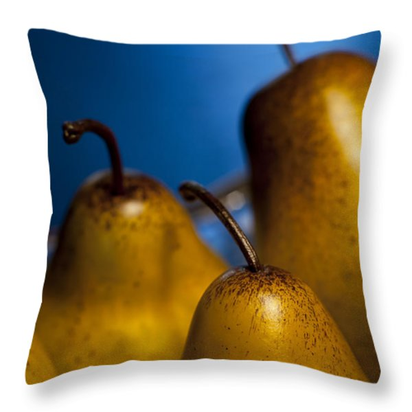 The Three Pears Throw Pillow by Scott Norris