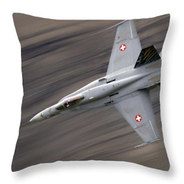 The Thrust Throw Pillow by Angel  Tarantella