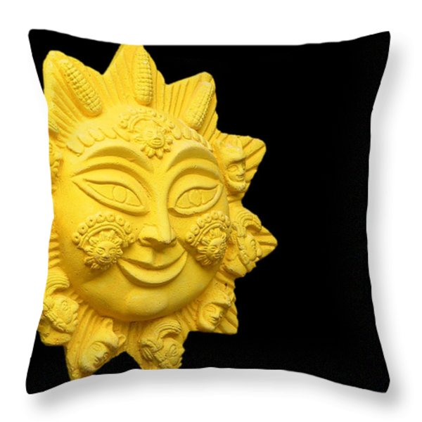 The Time Of No-time Throw Pillow by Christine Till