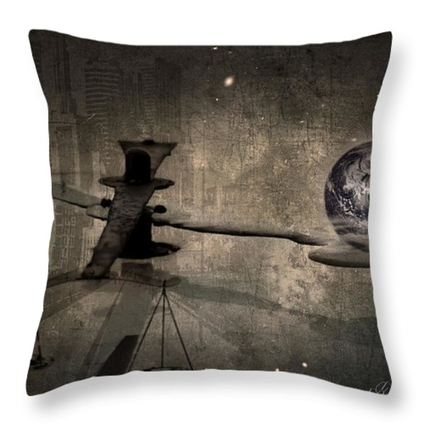 The Time Throw Pillow by Svetlana Sewell