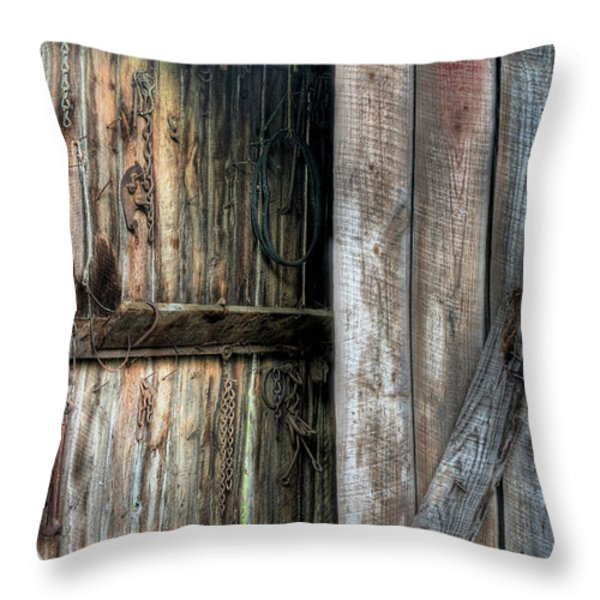 The Tool Shed Throw Pillow by JC Findley