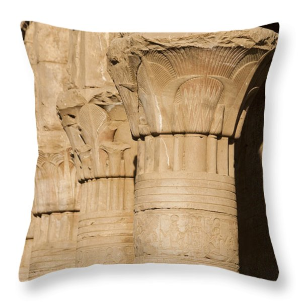 The Tops Of The Pillars Of The Temple Throw Pillow by Taylor S. Kennedy