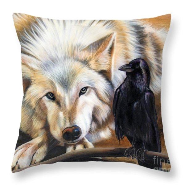 The Truce Throw Pillow by Sandi Baker