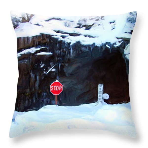 The Tunnel View Tunnel Throw Pillow by Heidi Smith