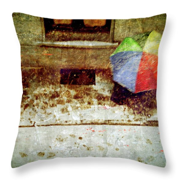 The umbrella Throw Pillow by Silvia Ganora