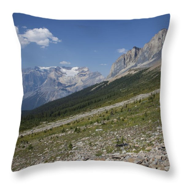 The Unesco Burgess Shale Fields Spread Throw Pillow by Taylor S. Kennedy