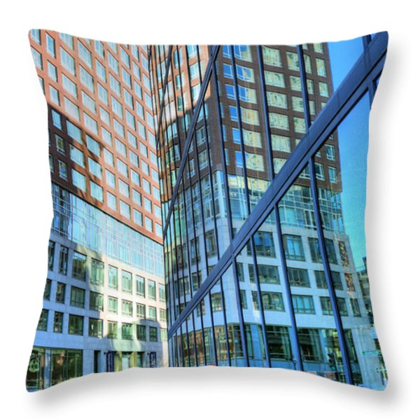 The Urban Maze Throw Pillow by JC Findley