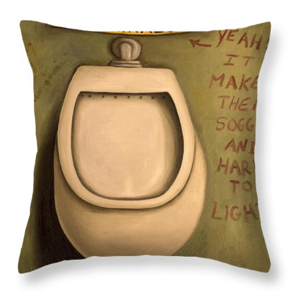 The Urinal Throw Pillow by Leah Saulnier The Painting Maniac