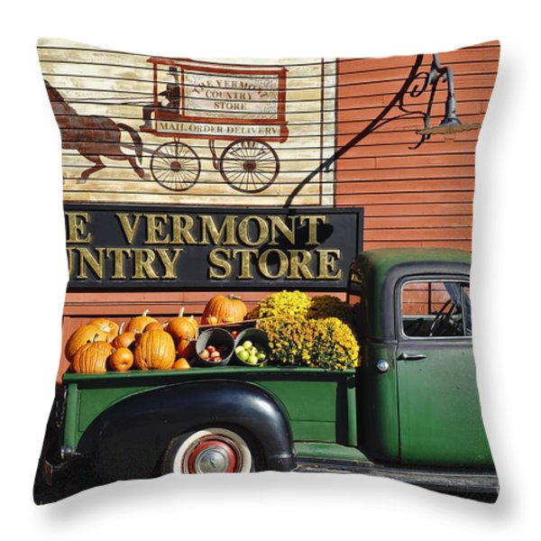 The Vermont Country Store Throw Pillow by John Greim