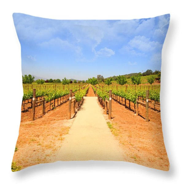 The Vineyard Throw Pillow by Cheryl Young