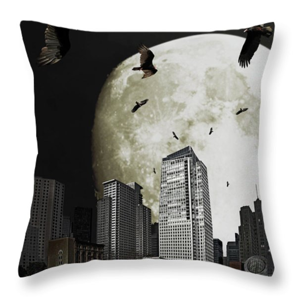 The Vultures Have Emerged From My Dreams Throw Pillow by Wingsdomain Art and Photography