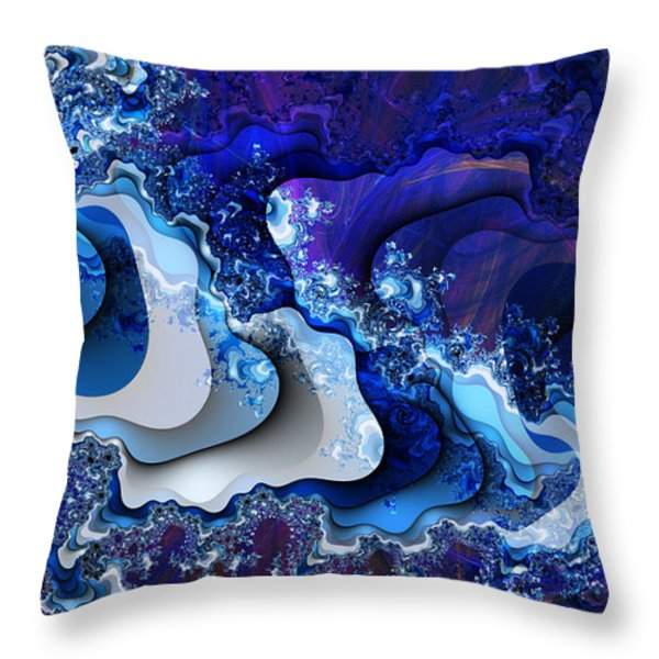 The Wake Of Thy Spirit's Passage Throw Pillow by Kenneth Johnson