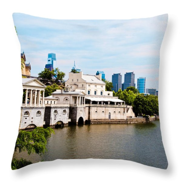 The WaterWorks in Spring Throw Pillow by Bill Cannon