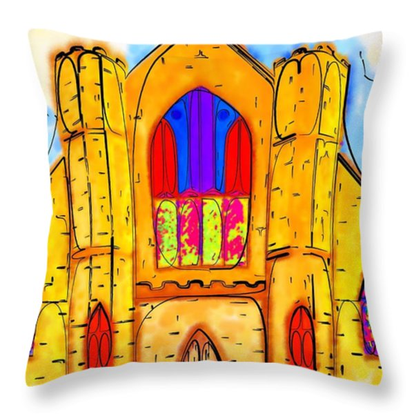 The Wedding Chapel Throw Pillow by Alec Drake