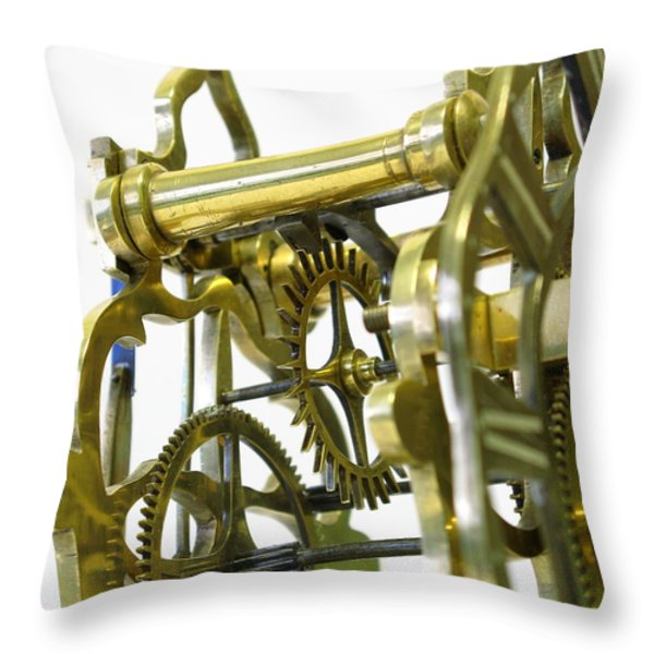 The Wheels Of Time Throw Pillow by John Chatterley