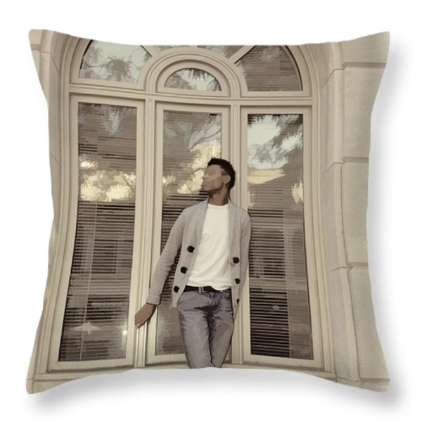 The Window Throw Pillow by Alice Gipson