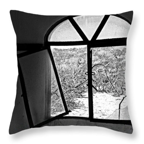 The Window Throw Pillow by Cheryl Young