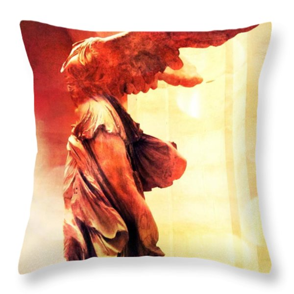The Winged Victory  Throw Pillow by Marianna Mills