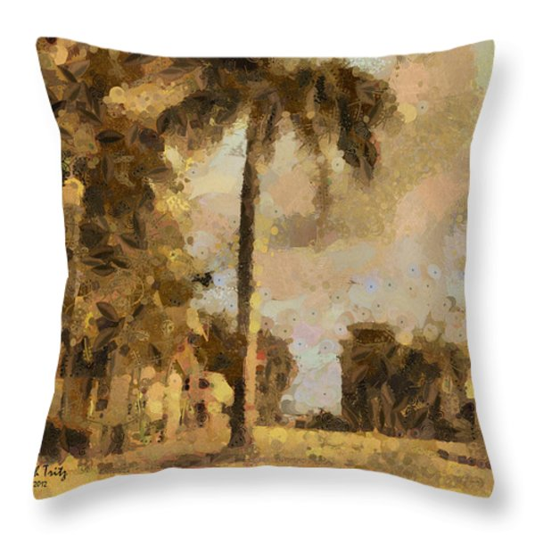 The Wonder Of Fort Pierce Throw Pillow by Trish Tritz