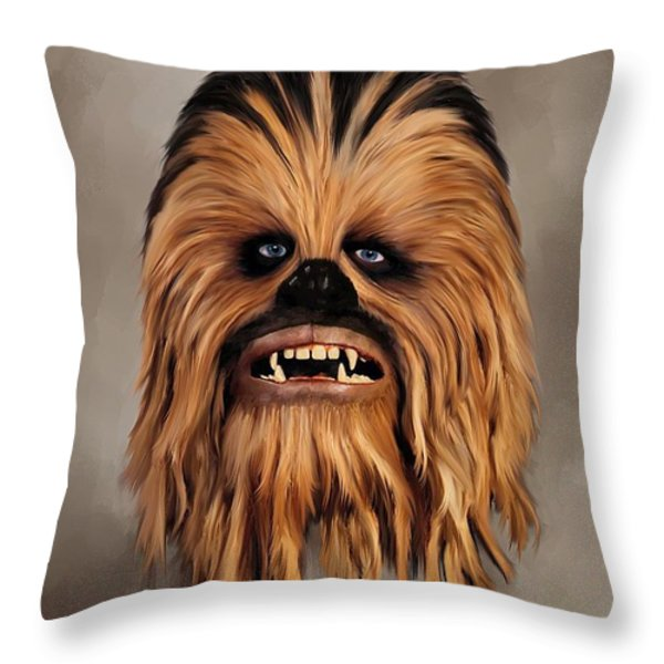 The Wookiee Throw Pillow by Michael Greenaway