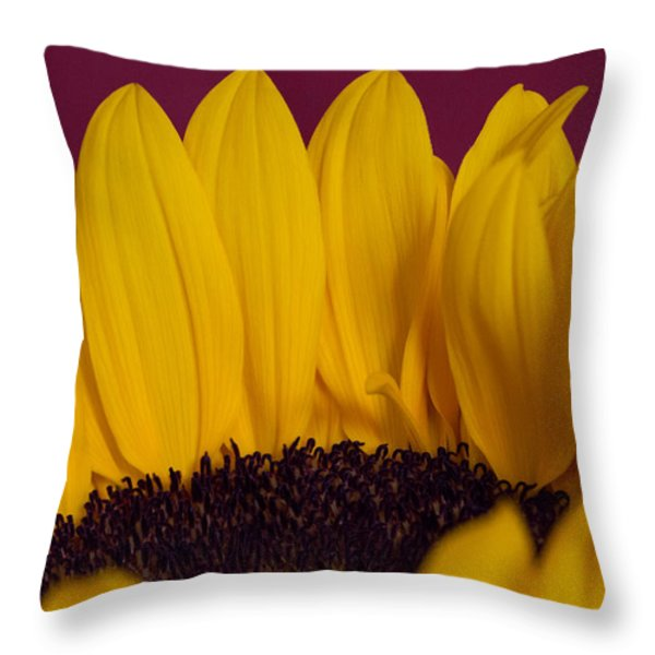 The Yellow Blossom Leaves Throw Pillow by Andreas Levi