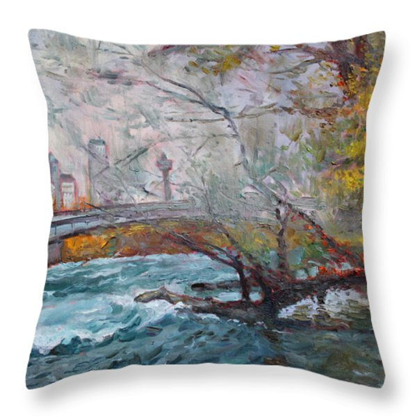 ....then The Rain Started Throw Pillow by Ylli Haruni