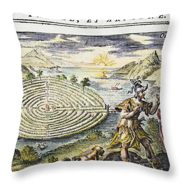 Theseus & Ariadne Throw Pillow by Granger