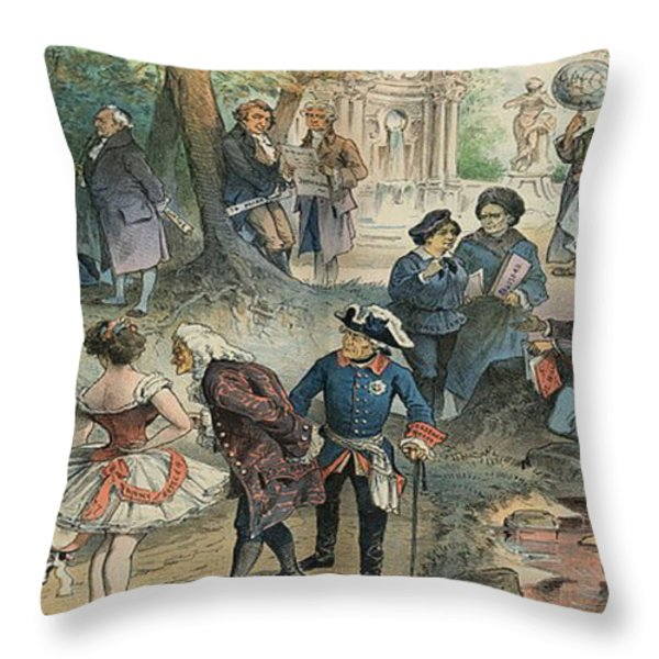This Business Is Removed To Sheol Throw Pillow by Photo Researchers