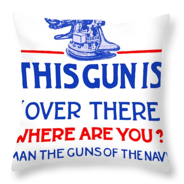This Gun Is Over There Throw Pillow by War Is Hell Store